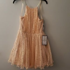 Size 11 peach/gold dress